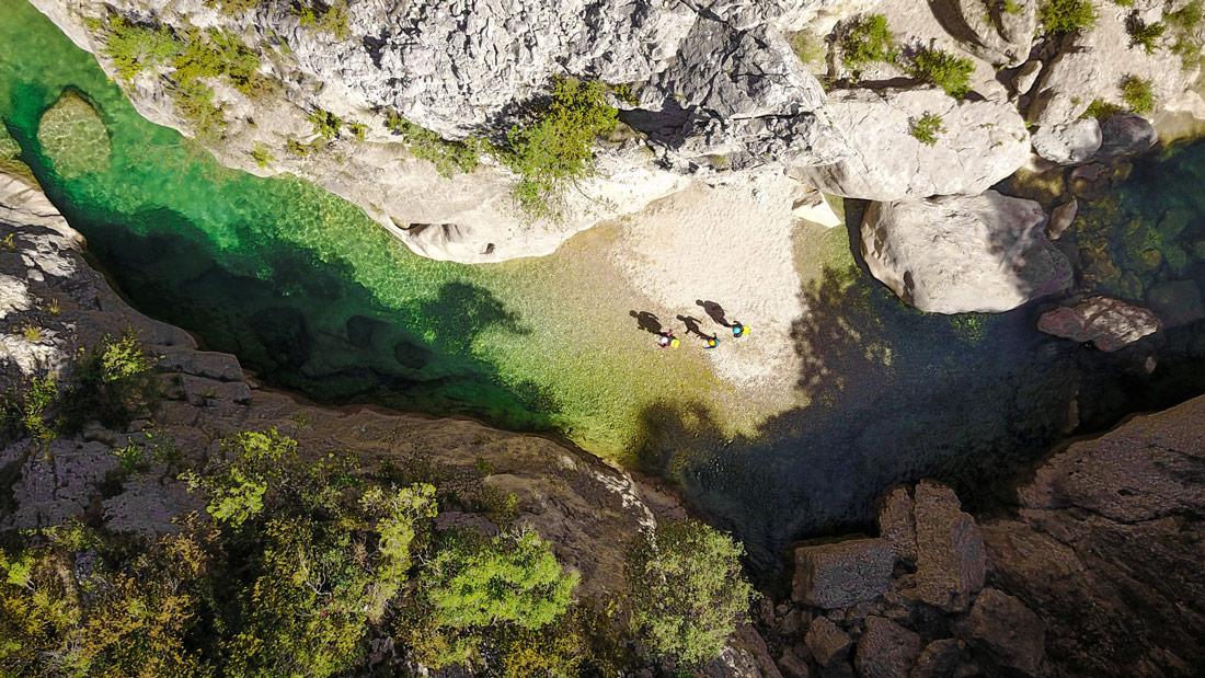 Vue aérienne du canyon