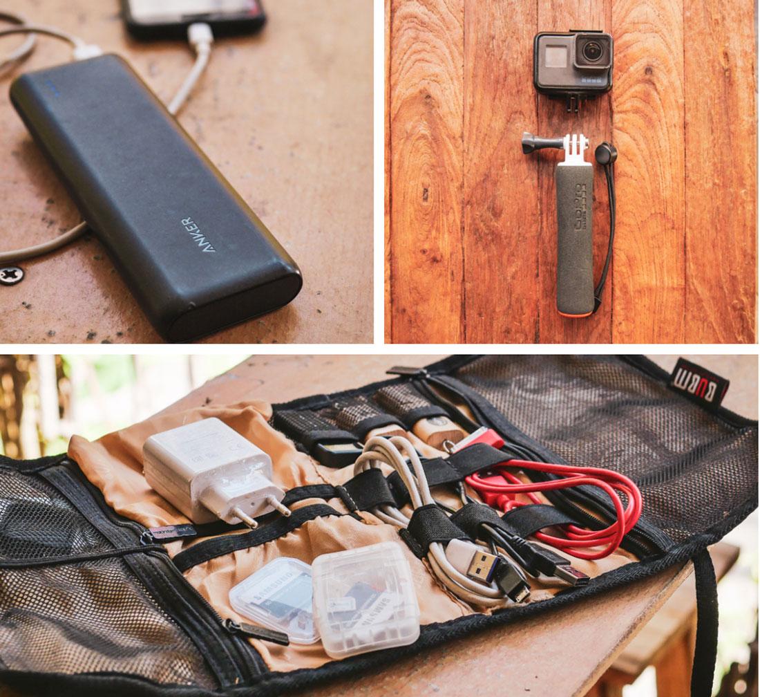 équipement électronique pour tour du monde