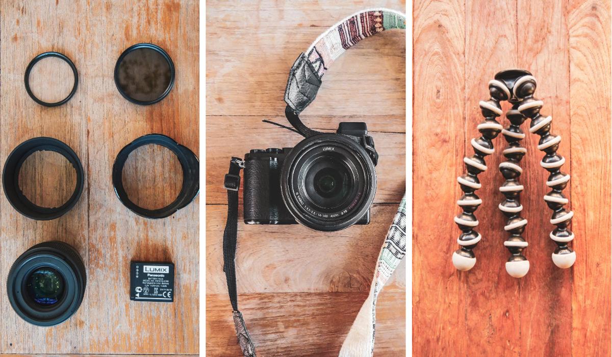 appareil photo GX9 plus filtres et accessoires , tour du monde