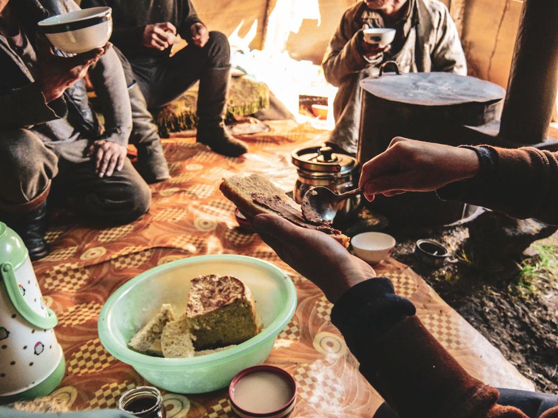 petit déjeuner avec les tsaatan