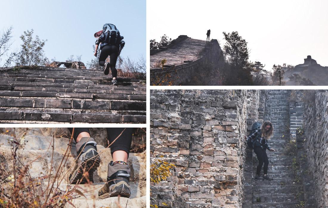 Escalier grande muraille de Chine