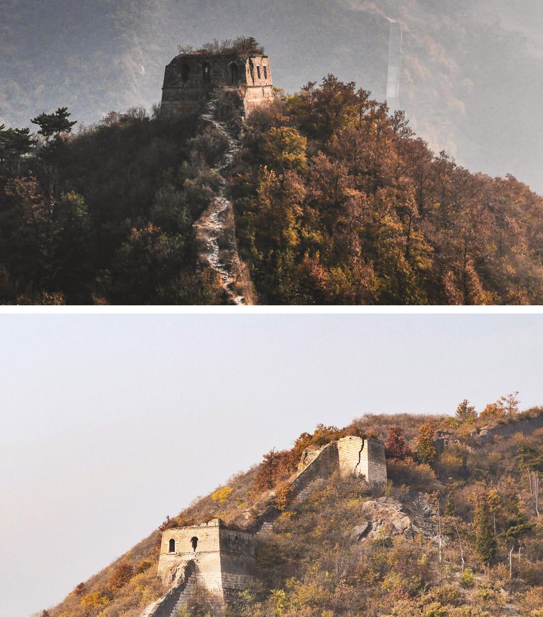 Magnifique paysages sur la grande muraille originelle