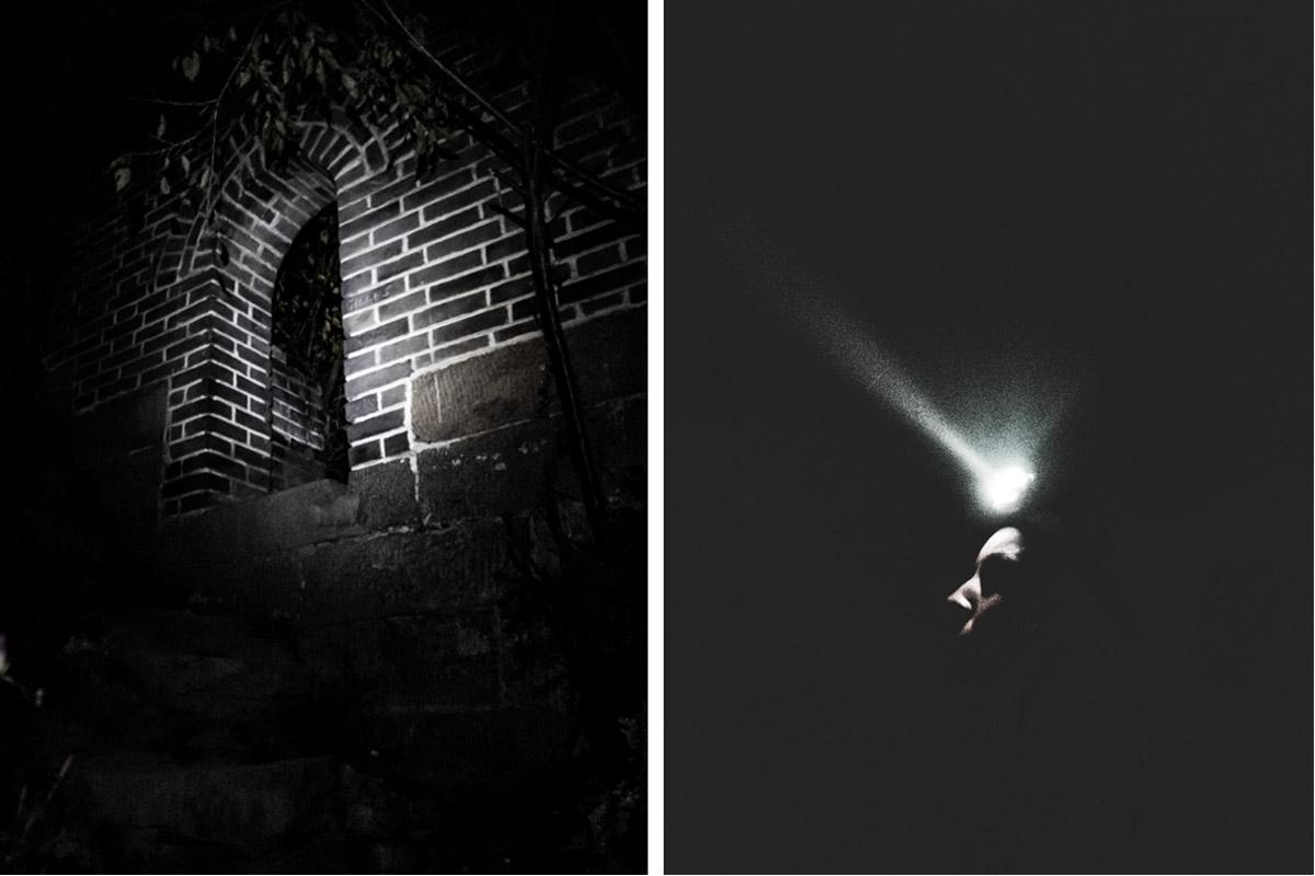 Arrivée de nuit sur la muraille
