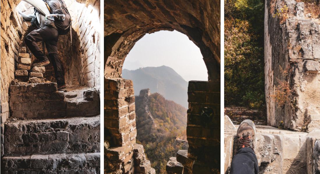 Bâtiments à l'abandon grande muraille