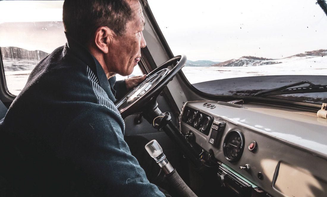 Chauffeur de notre van