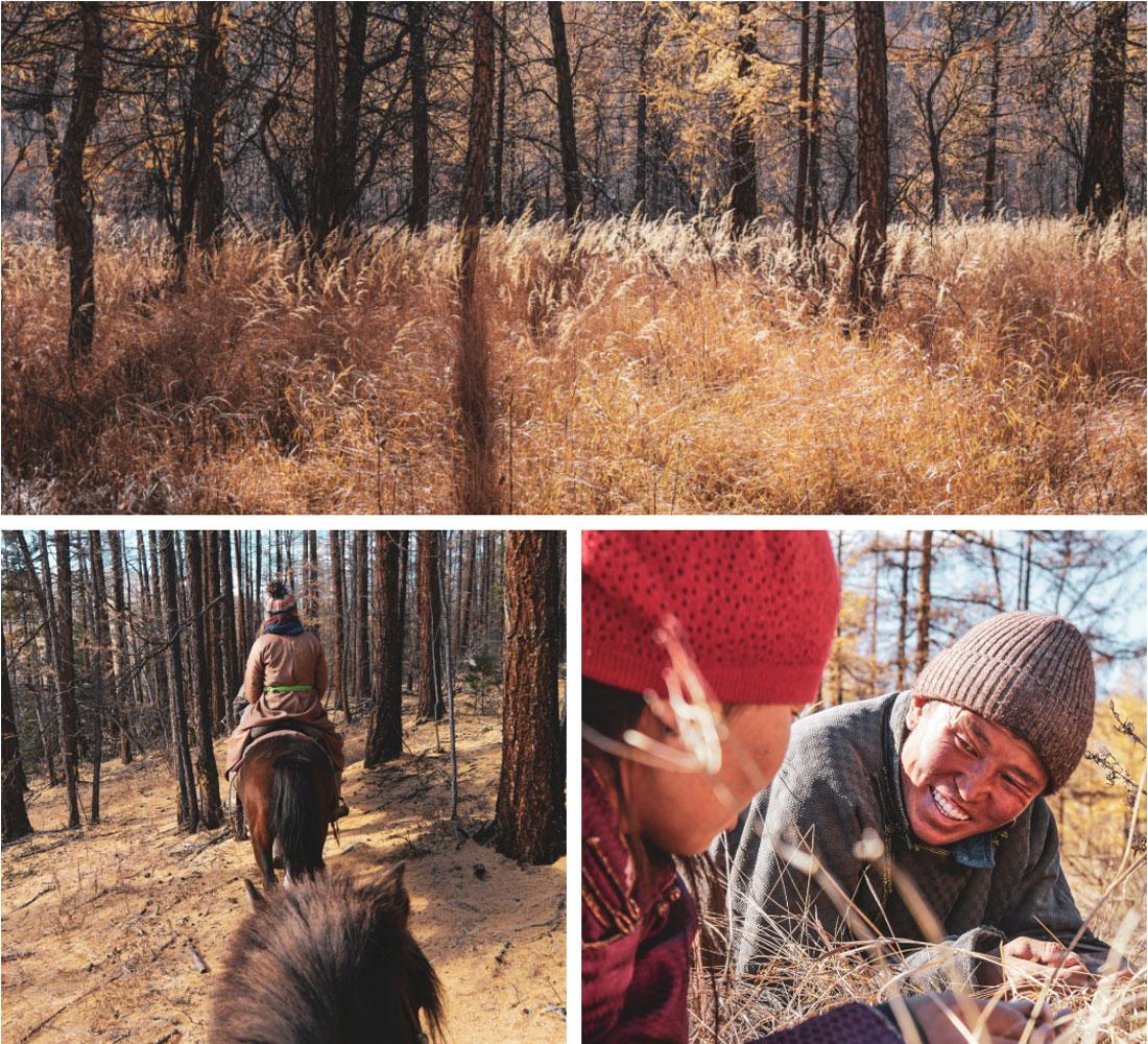 Petites pauses avec nos guides mongoles