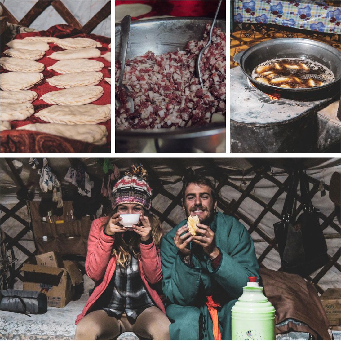 Repas de roi avec une famille nomade mongole