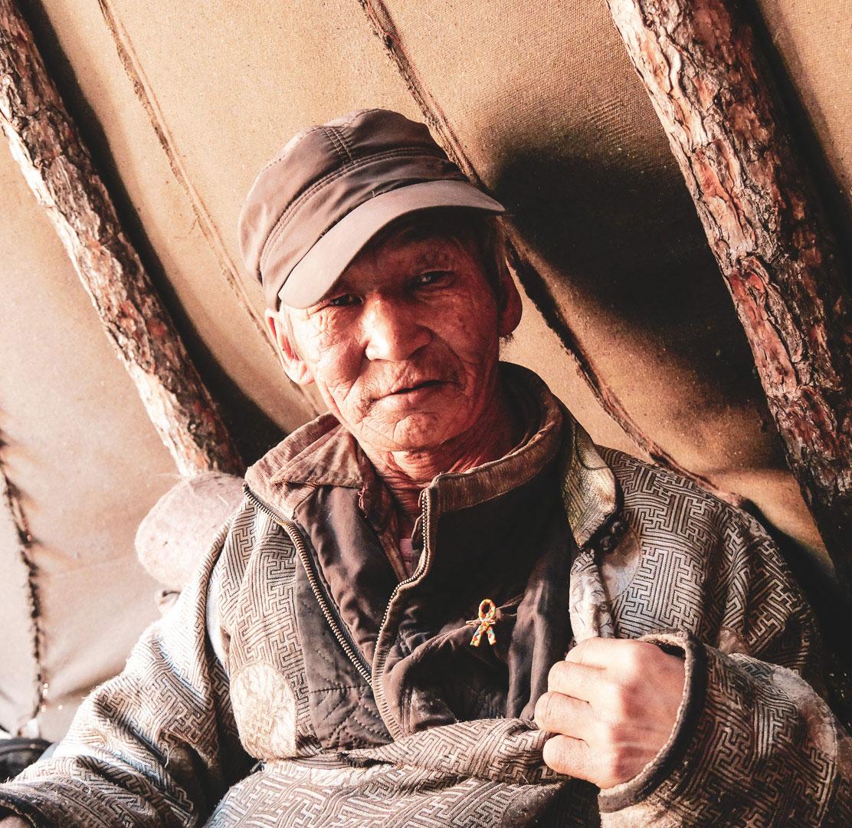 Un homme de la tribu Tsaatan
