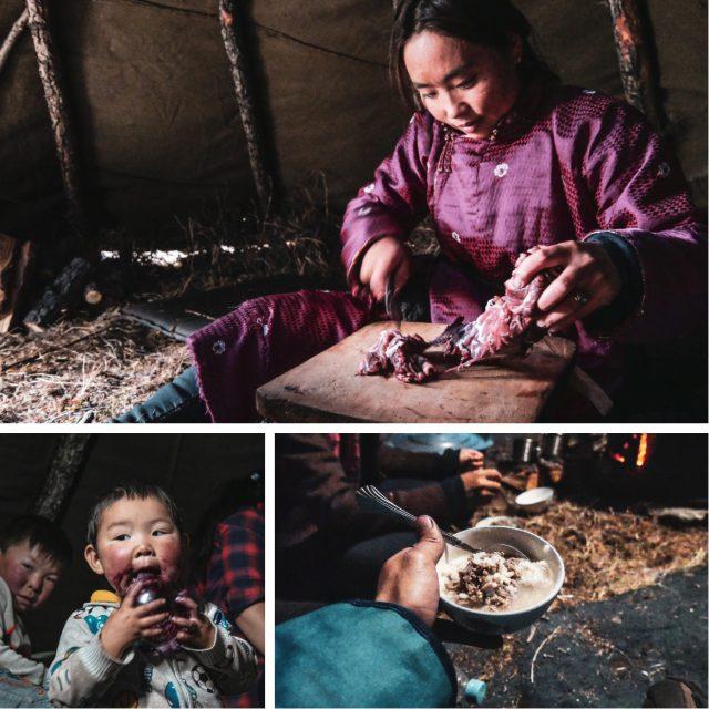 Repas chez les tsaatans