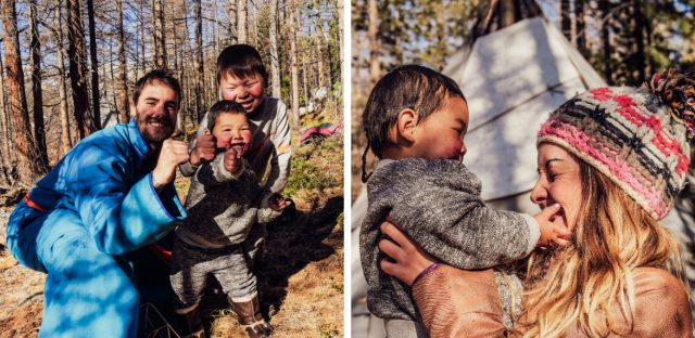 photo avec des enfants tsaatans