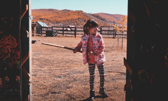petite enfant mongole