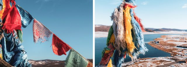 drapeau priere mongole