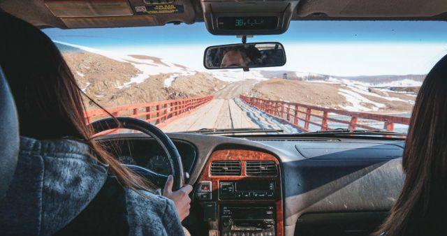 dans une voiture mongole
