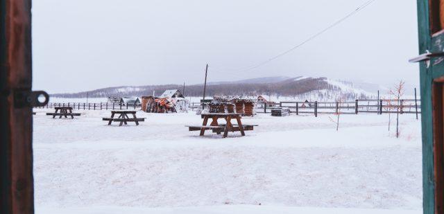 tempete de neige Mongolie