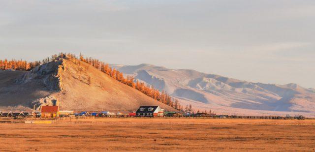 paysage au nord de la mongolie
