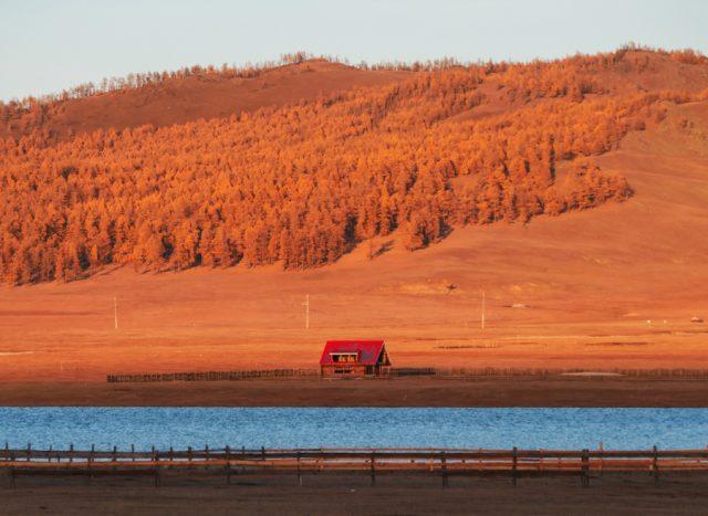 couché de soleil en mongolie