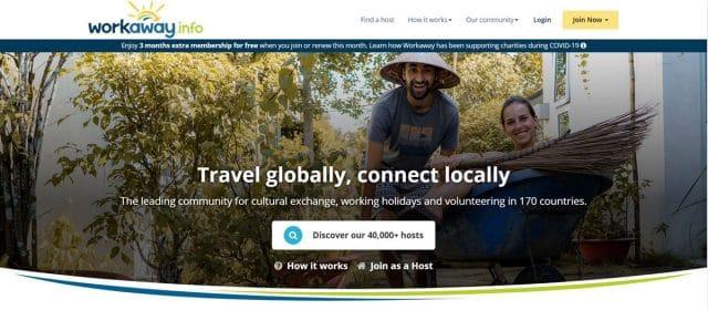 site web volontariat workaway