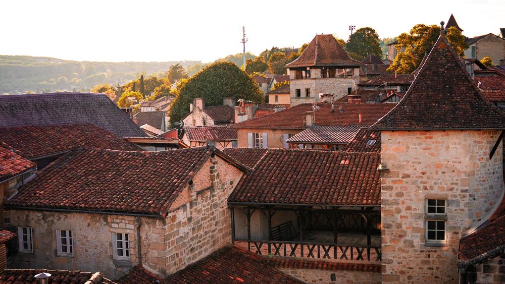 Belle vue sur les toits de Figeac