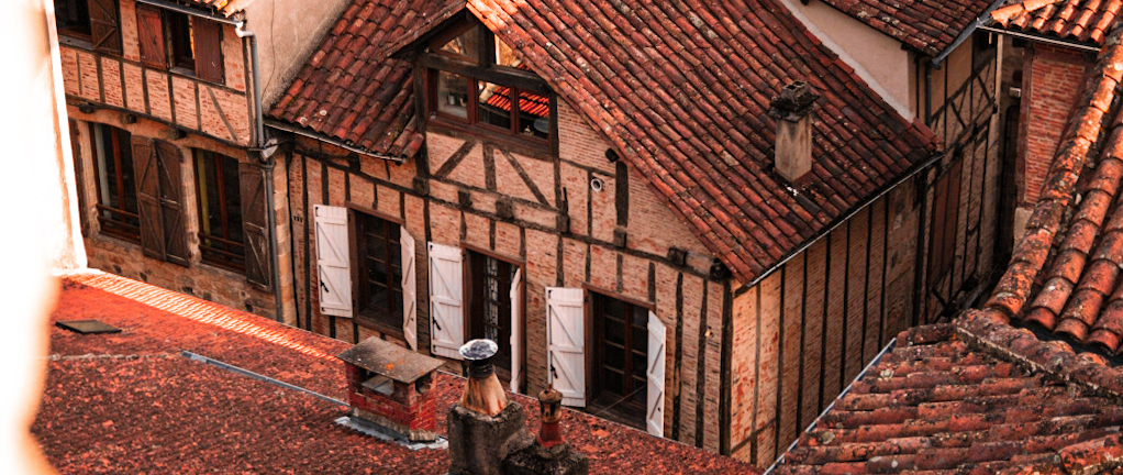 Vue sur les toits de Figeac