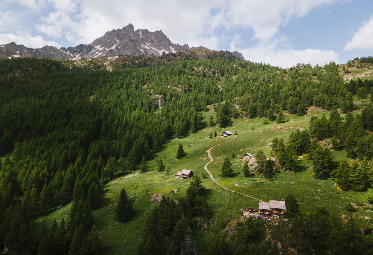 Randonnée refuge chardonnet clarée hameau Laraux
