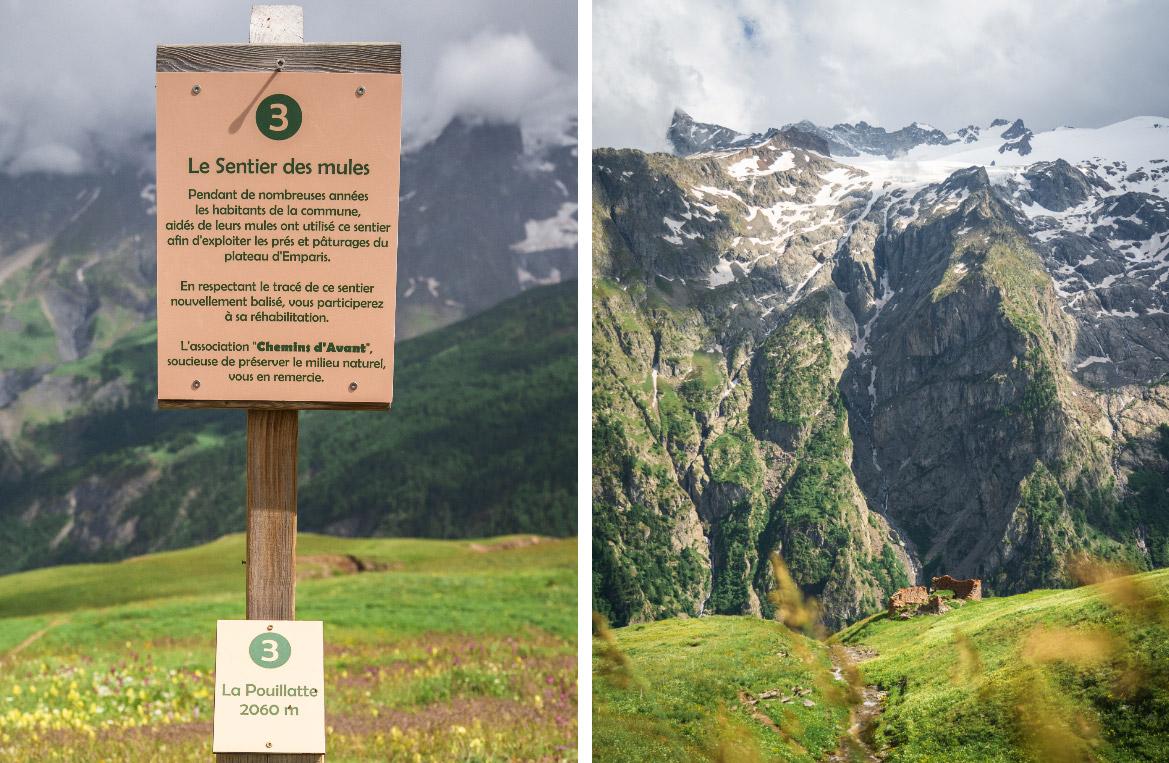 sentier historique plateau d'Emparis